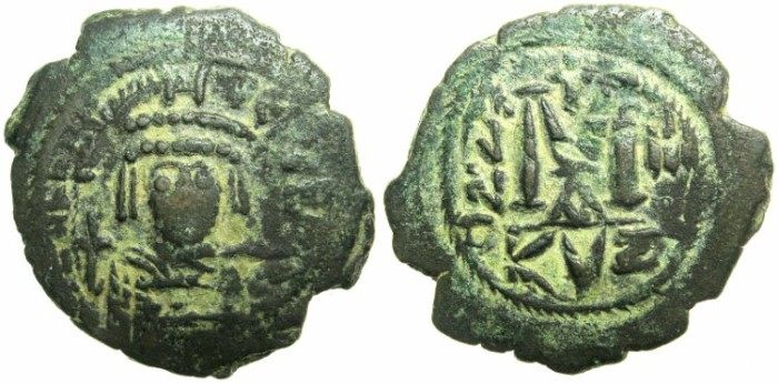 Ancient Coins - BYZANTINE EMPIRE.Heraclius AD 610-641.AE.Follis.AD 612/13.Mint of CYZICUS.