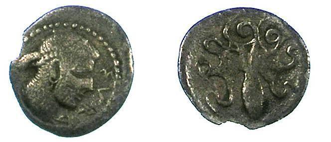 Ancient Coins - SICILY.Syacuse.c.485-465 BC.AR.Obol.