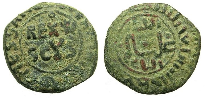 Ancient Coins - ITALY.SICILY.William II AD 1166-1189.AE.Follaro.Mint of MESSINA.