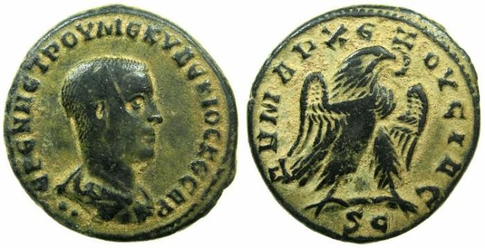 Ancient Coins - SYRIA.SELEUCIS AND PIERIA.ANTIOCH.Herennius Etruscus Caesar AD 249-251.Billon Tetradrachm.