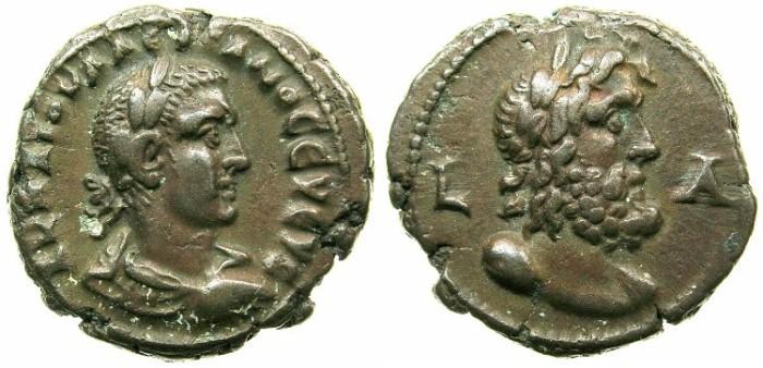 Ancient Coins - EGYPT.ALEXANDRIA.Valerian I ( The elder ) AD 253-260.Billon Tetradrachm Struck AD 253/54.