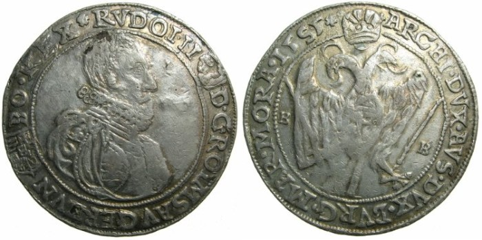 Ancient Coins - AUSTRIA.Archduke Rudolf II AD 1576-1612.Thaler 1585, Kremnitz mint.*****CONTEMPORAY PLATED FORGERY*****