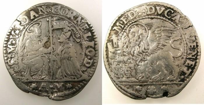 Ancient Coins - ITALY.VENICE.Giovanni Corner II AD 1709-1722.AR.Mezzo Ducato.