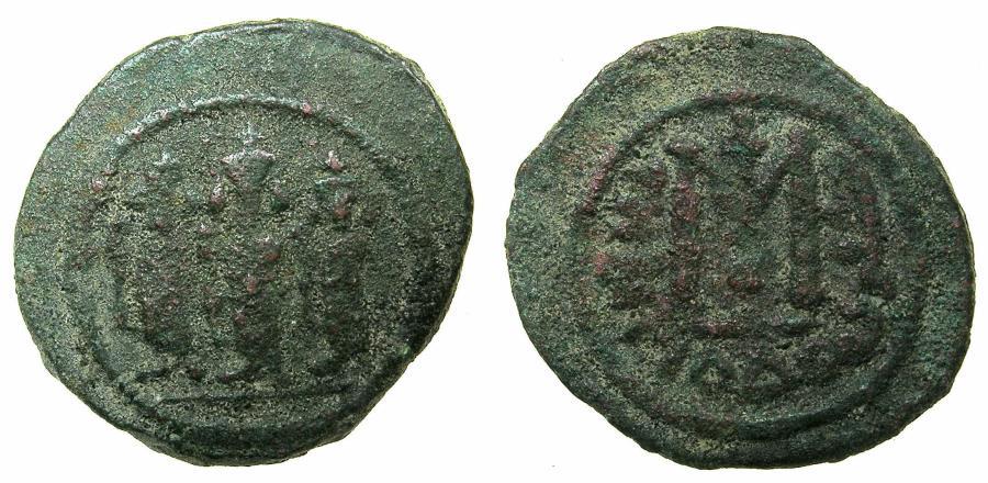 Ancient Coins - ARAB-BYZANTINE.TABARIYYA ( TIBERIAS ).Anonymous 7th cent AD.AE.Fals.