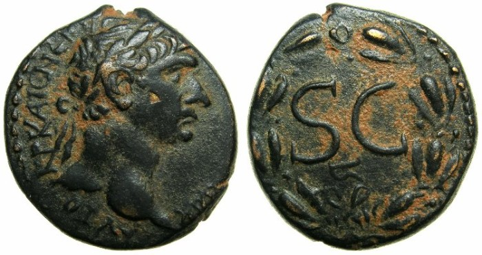 Ancient Coins - SYRIA.Seleucis and Pieria.ANTIOCH AD ORONTES.Trajan AD 98-117.AE.~~~Excellent portait of Trajan.