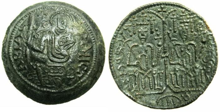 World Coins - HUNGARY.Bela III AD 1172-1196.AE.Scyphate Follaro.