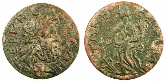 Ancient Coins - PISIDIA.TERMESSUS MAJOR. C.3rd-4th .AD.Autonomous issue.AE.27.~#~.Tyche.