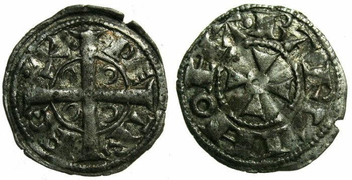 Ancient Coins - SPAIN.BARCELONA.Peter I of Aragon AD 1196-1213.Billon Denaro.