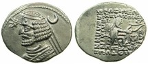 Ancient Coins - PARTHIA.Orodes II 57-38 BC.AR.Drachma.Mint of MITHRADATKART.