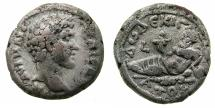 Ancient Coins - EGYPT.ALEXANDRIA.Marcus Aurelius Caesar AD 141-161.Billon Tetradrachm.Struck AD 147/48.~#~.Nilus recliining, coin records the rise of the Nile to 16 cubits.