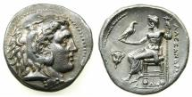 Ancient Coins - EGYPT.Mint of MEMPHIS. Alexander III The Great 336-323 BC.AR.Tetradrachm. ***Lifetime issue, Rare varient ***
