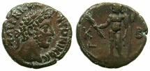 Ancient Coins - EGYPT.ALEXANDRIA.Commodus AD 176-192.Billon Tetradrachm, struck AD 181/82.~#~. Standing figure of Zeus naked.
