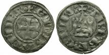 World Coins - CRUSADER.Frankish Greece.Dukes of ATHENS.William I AD 1280-1287 or Guy II AD 1287-1308.Billon Denier.Variety GR 105.