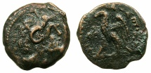 Ancient Coins - PTOLEMAIC EMPIRE.CYRENAICA.CYRENE.Ptolemy VIII Euergetes II 145-116BC.AE.19mm.