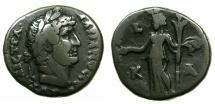 Ancient Coins - EGYPT.ALEXANDRIA.Hadrian AD 117-138.Billon Tetradrachm, struck AD 136/37.~#~.Demeter standing.