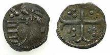 World Coins - ROMANIA.Voivodes of WALLACHIA.Mircea I cel Batran AD 1386-1418.Bi.Ban (Obol). **** VERY RARE DENOMITATION ****
