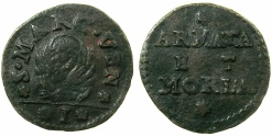 World Coins - ITALY.VENICE.Coinage for the armed forces and the Morea ( Peloponnese ).Anonymous.AE.Soldo.issued by decree 16th August 1692