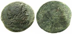 Ancient Coins - PTOLEMAIC EMPIRE.PHOENICIA.Ptolemy II Philadelphus 285-246 BC.AE.41mm. mint of PTOLEMAIS (AKO ) .