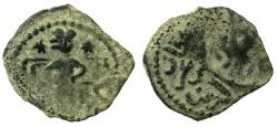 Ancient Coins - ISLAMIC.Seljuks of RUM.'Izz al din Kiliji Arslan ibn Masaud 551-588H ( AD 1156-1192 ).AE.Fals.~~~.Emir enthroned.