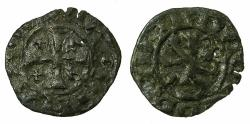 World Coins - CRUSADER STATES.CYPRUS. Janus AD 1398-1432.Billon Denier. ****Transposed legends ***
