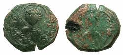 Ancient Coins - BYZANTINE EMPIRE.Manuel I Comnenus AD 1143-1180.AE.Tetarteron. Mint of THESSALONIKA. Saint George.