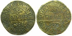 World Coins - CAPPADOCIA.KELVERI.St.Gregory Theologus church.AE.20 Para ' Bracteate' Token 1888