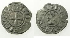 World Coins - CRUSADER STATES.JERUSALEM.Amaury AD 1163-1174.Billon Denier.Class 8.