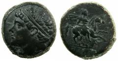 Ancient Coins - SICILY.SYRACUSE.Hieron II 275-216 BC.AE.26.