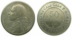 World Coins - CHILE.CN.50 Centavos token.1916. P.MIMBELA. Dies engraved by F(elix) Rasumny