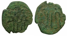 Ancient Coins - BYZANTINE EMPIRE.Andronicus II and Michael IX AD 1294-1320.AE.Assarion.Mint of Constantinople.~#~.Indiction 14 either AD1301 or 1316.