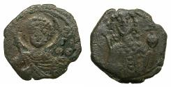 Ancient Coins - BYZANTINE EMPIRE.Manuel I Comnenus AD 1143-1180.AE.Tetarteron. Mint of THESSALONIKA. Saint George.