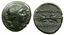 Ancient Coins - SICILY.Agathokles 317-289 BC.AE.Litre. Sotira-Artemis.