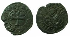 World Coins - CRUSADER.GREECE under VENICE.Antonio Venier AD 1382-1400. Bi.Tornesello