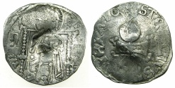 World Coins - SERBIA.Stefan VIII Uros IV as Tsar AD 1345-1355.AR.Dinar with Bulgarian countermark Bird.