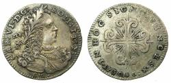 World Coins - ITALY.NAPLES.Charles VI H.R.E and King of Naples 1711-1734.AR.Carlino ( 10 Granna ).1730.
