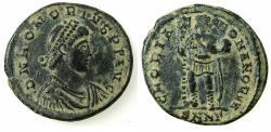 Ancient Coins - ROMAN IMPERIAL.Honorius AD 393-423.AE.Follis.Mint of NICOMEDIA.