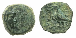 Ancient Coins - Artaxiads of ARMENIA.Tigranes IV 8-5 BC.AE.13.4mm.~#~.Eagle standing left.