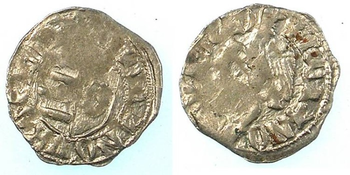 World Coins - ROMANIA.VOIVODES OF WALLACHIA.Dan I 1383-1386.Denier.
