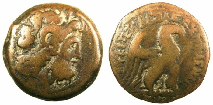 Ancient Coins - PTOLEMAIC EMPIRE.CYPRUS.Ptolemy VIII Euergetes II 145-116 BC.AE.30.