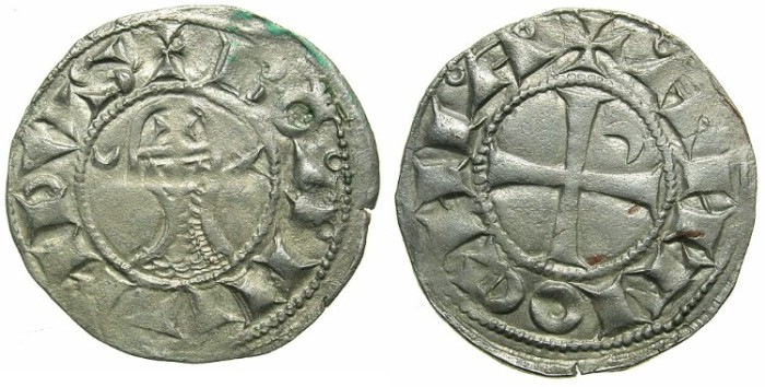 World Coins - CRUSADER STATES. Antioch. Bohemond III or IV c.1149-1233 Bi.Denier. Class C