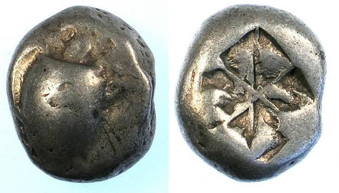 Ancient Coins - ATTICA.Island of AEGINA.Circa 550-500 BC.AR.Stater.Sea Turtle.