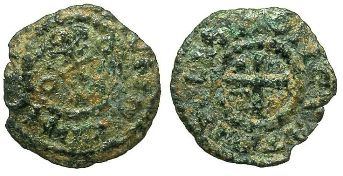 Ancient Coins - CRUSADER.TRIPOLI.Raymond I 1099-1105 or Raymond II 1137-1152.AE.Copper.MONETA TRIPOLIS type