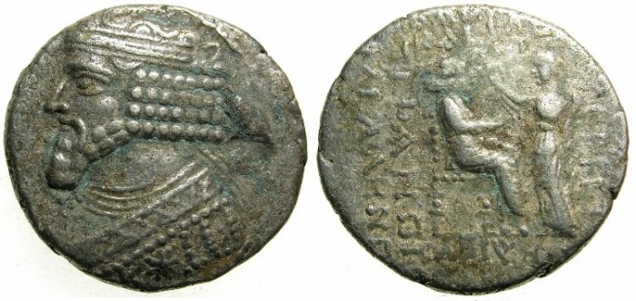 Ancient Coins - PARTHIA.Gotzarzes II AD 40-51.Billon Tetradrachm.Struck AD 45/46.Mint of SELUCIA.