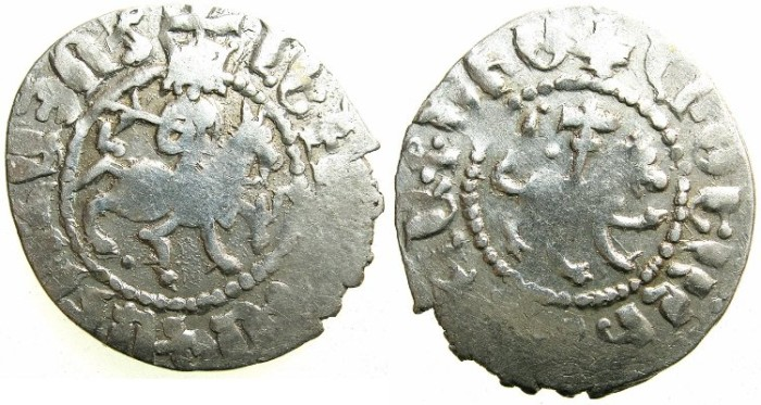 Ancient Coins - CILICIAN ARMENIA.Levon IV AD 1320-1342.AR.Takvorin.Sigla L-M.Mint of SIS.