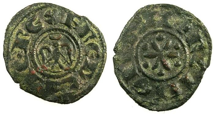 Ancient Coins - ITALY.SICILY.Federico II AD 1197-1250.Bi.Denier