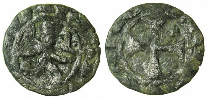 Ancient Coins - CRUSADER.CYPRUS.James I AD 1382-1398.Bi.Denier.