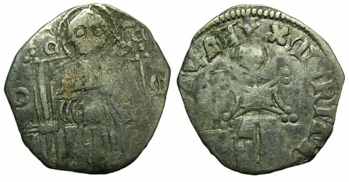 Ancient Coins - SERBIA.Stefan Uros IV Dusan as King AD 1331-1345.AR.Dinar.~~~Sigla Delta - Omega.