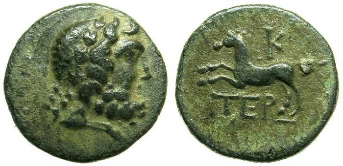 Ancient Coins - PISIDIA.Termesso sMajor.Circa 1st Cent BC.AE.18.Dated Year 20.Zeus.Horse.