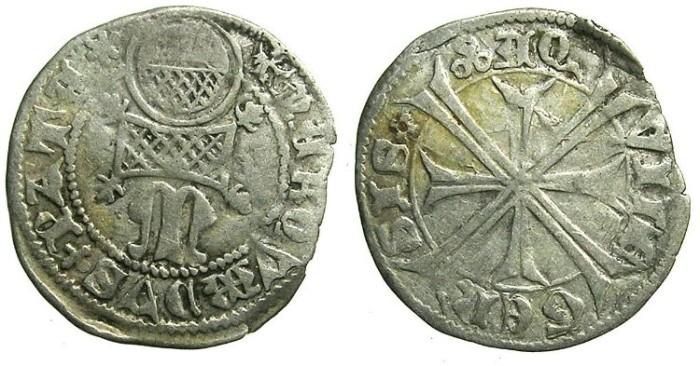 Ancient Coins - ITALY. AQUILEIA.Marquardo di Randeck AD 1365-1381AR.Denaro