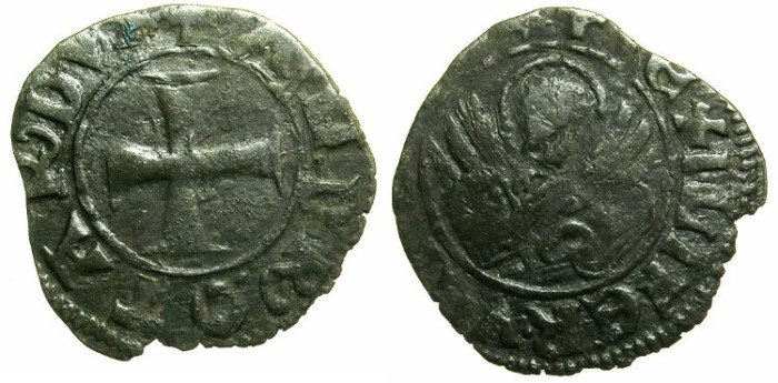 Ancient Coins - CRUSADER.GREECE under VENICE.Andrea Contarini AD 1368-1382.Bi.Tornesello.